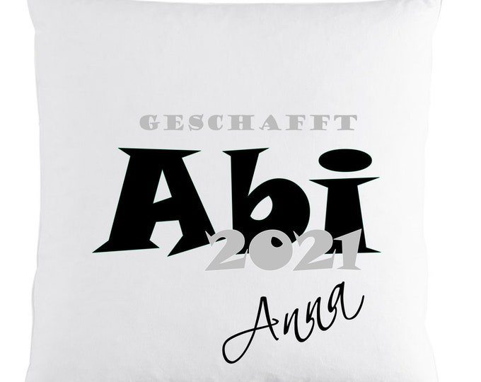 Gift for Abitur Abigifts 2021 Pillow with name printed vintage