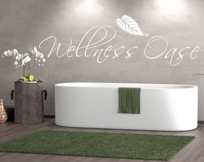 Wall decal wall sticker wellness oasis bathroom living room bedroom