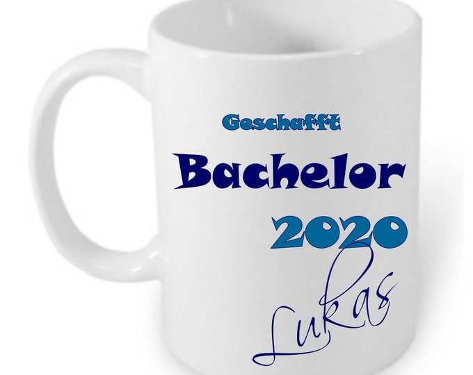 Gift Bachelor Uni Graduation 2020 Cup Personalized Name Girl Boys Abitur Gift