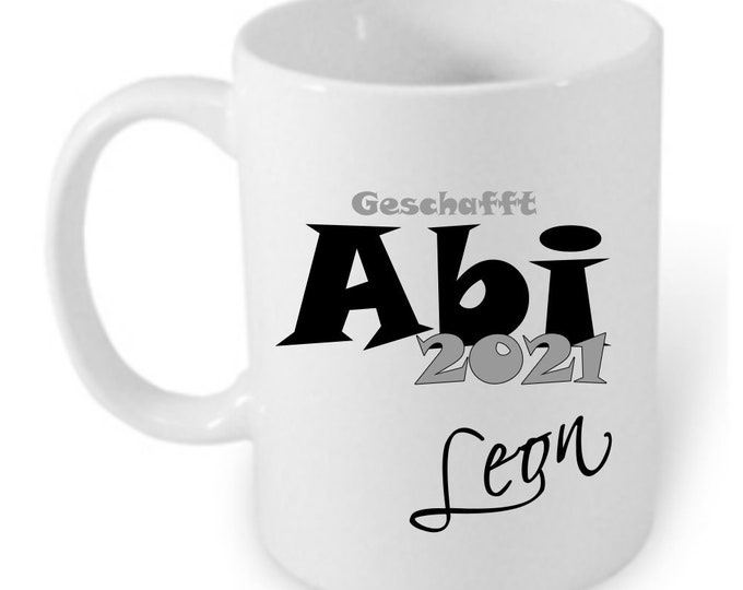 Gift Abitur graduation 2021 cup personalized name girl boys Abitur gift