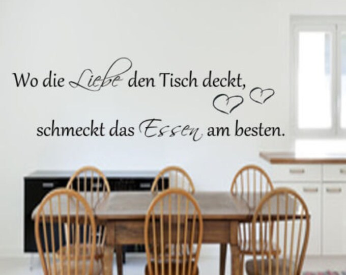 Wall decal kitchen Where love covers the table..