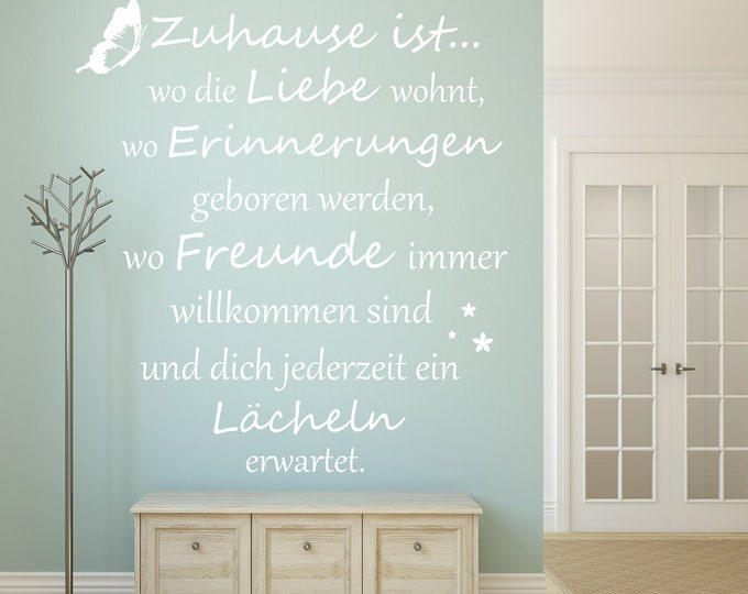 Wall decal wall sticker family saying AA620 saying home is where love lives... Wall-Sticker Vinyl Wall Art