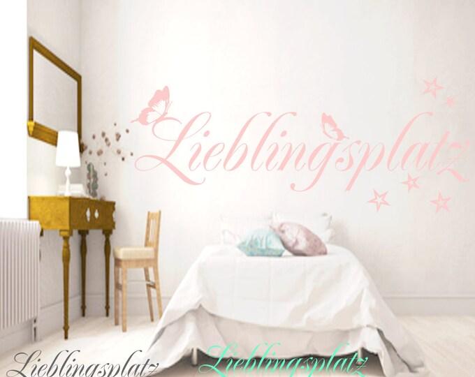 Wall decal LIEBLINGSPLATZ Bedroom Living Room Nursery... Stickers