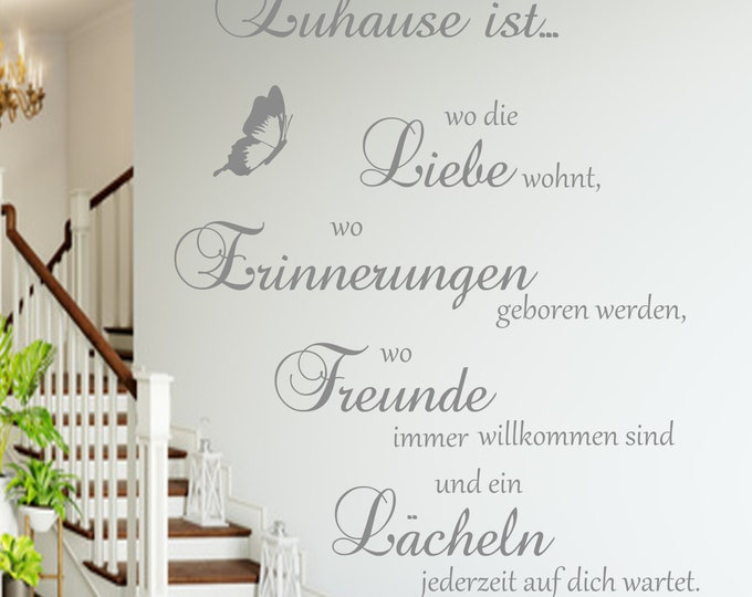 Wall decal family saying AA126 saying home is where the love lives... Wall-Sticker Vinyl Wall Art