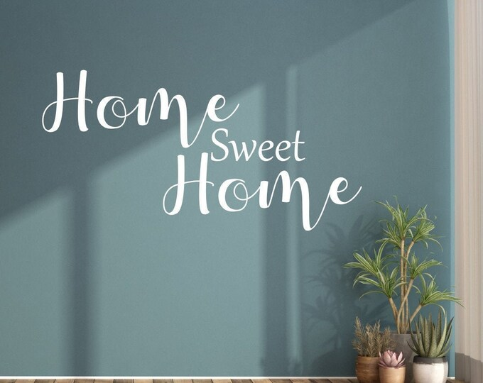 Wall Decal HOME Sweet Home Saying Living Room Bedroom Hallway Wall Sticker Text