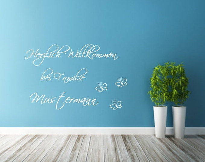 Wall decal Welcome to family.... Name Wish Name Wall Sticker Text