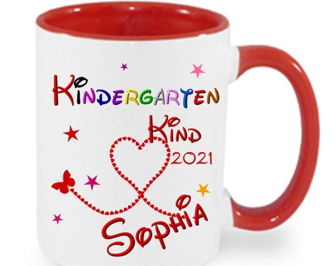 Gift kindergarten child 2021 KINDERGARTEN TASSE with name printed girl boy name cup