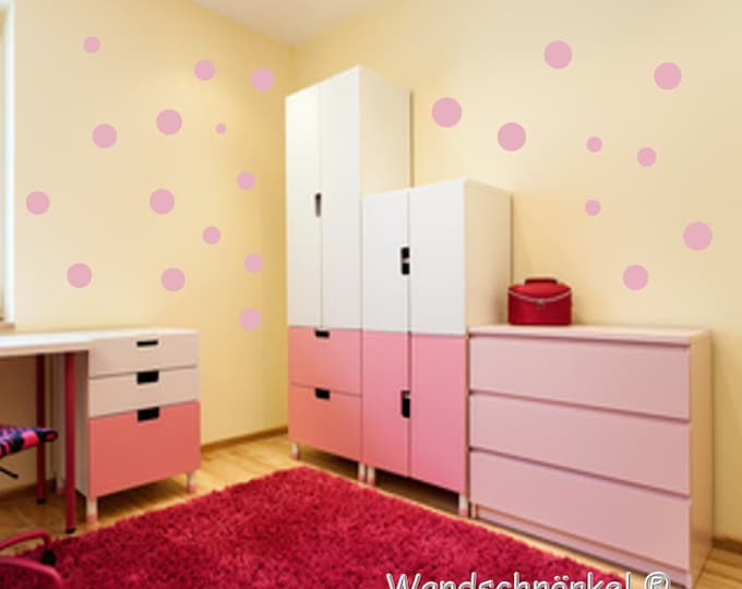 30 Polka Dots dots sticker sticker Wall Decals