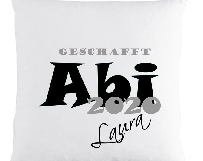 Gift for Abitur Abigeschenke 2020 cushion with name printed