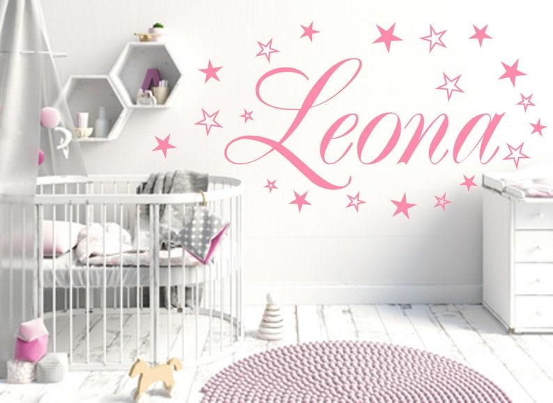 Dekoration Wandtattoo Kinderzimmer 90 Sterne Mit Wunschnamen Name 2 Farben Mobel Wohnen Blowmind Com Br