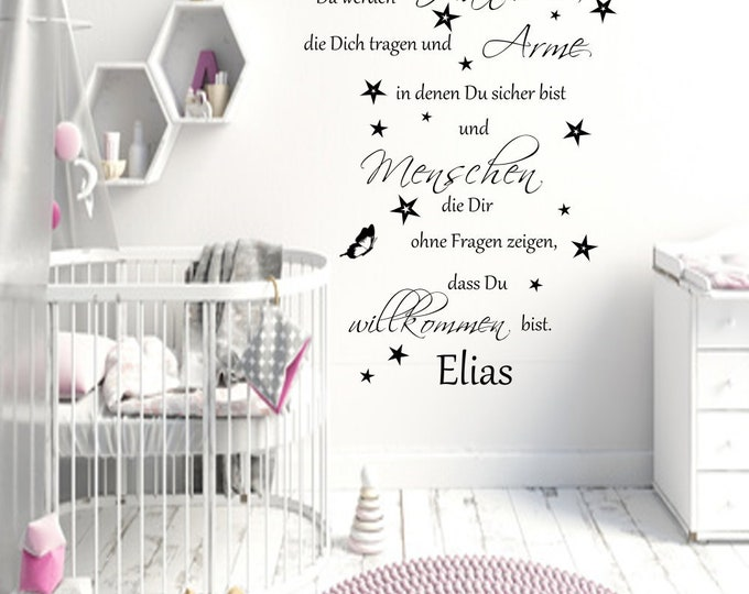 Wall Tattoo Baby Saying Names There Will Be Hands Wearing You Wall Sticker Decals