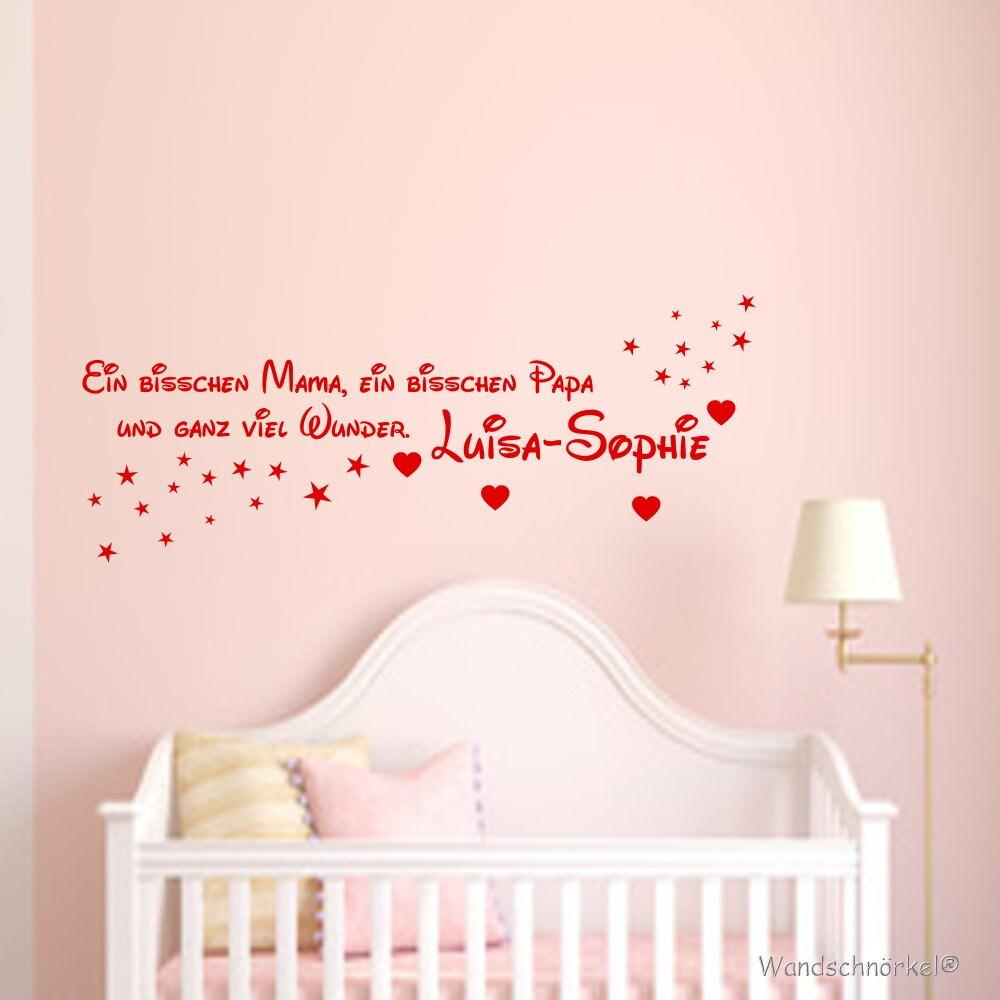 Wandtattoo Kinderzimmer personalisiert Baby Spruch