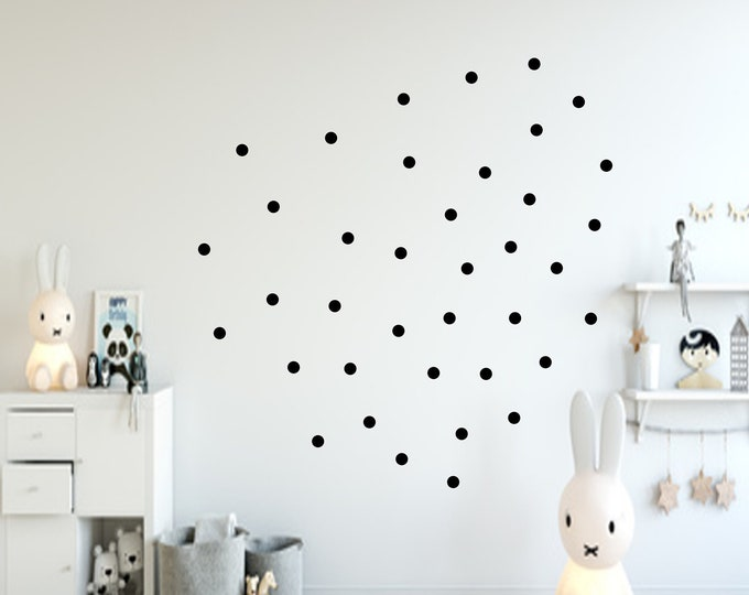 132 Dots Dots Dots Dots Sticker Wall/Furniture Sticker Wall Decal Nursery ++NEW++now Also Pastel Colors++