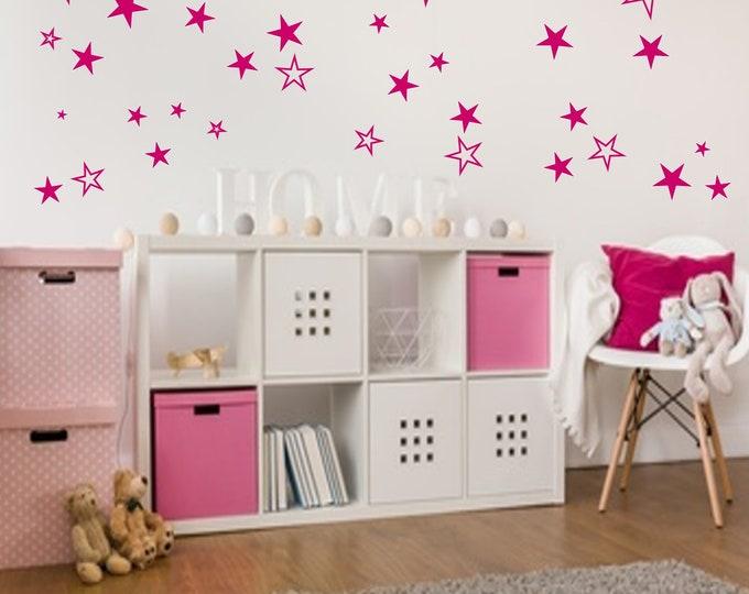Stars Stickers + + 83 Dare + + Wall tattoo Furniture Mirror Tiles + + Star Wall Stickers, Star Wall Decals, Star Decals, Star Stickers