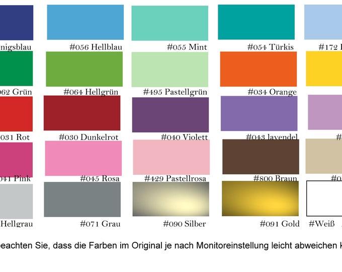 Plotter foil vinyl foil wall decal foil sticker foil foil Matte DinA4 23 colors Creative plotting