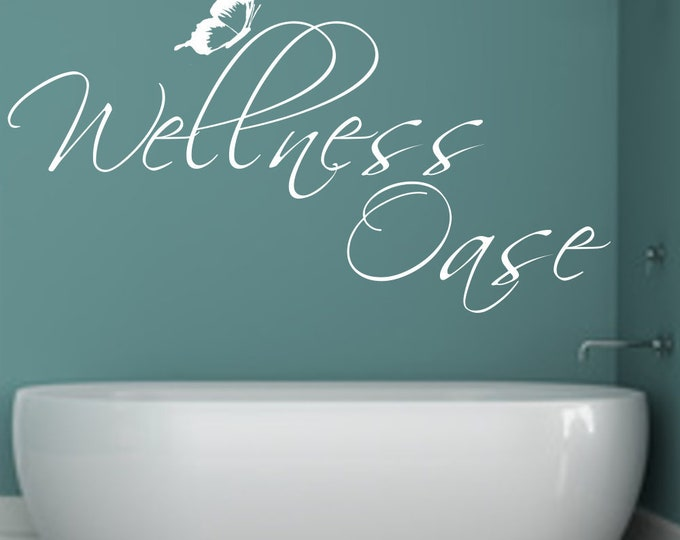 Wall decal wall sticker bathroom wellness oasis