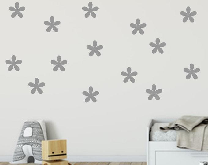 Wall sticker wall decal flower a 5 cm 60 pieces set confetti styl nursery