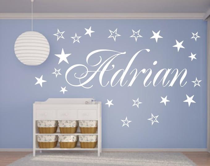 Wall decal NAMEN AA120 nursery 20 stars