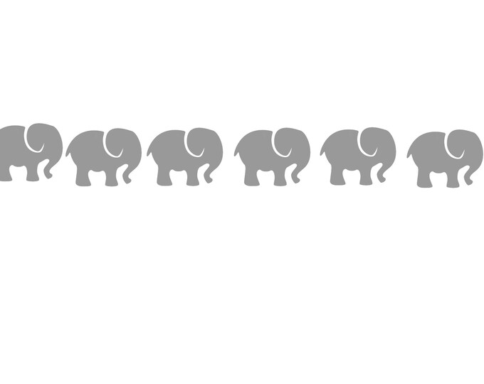Wall sticker elephant wall sticker elephant border nursery baby room wall decal