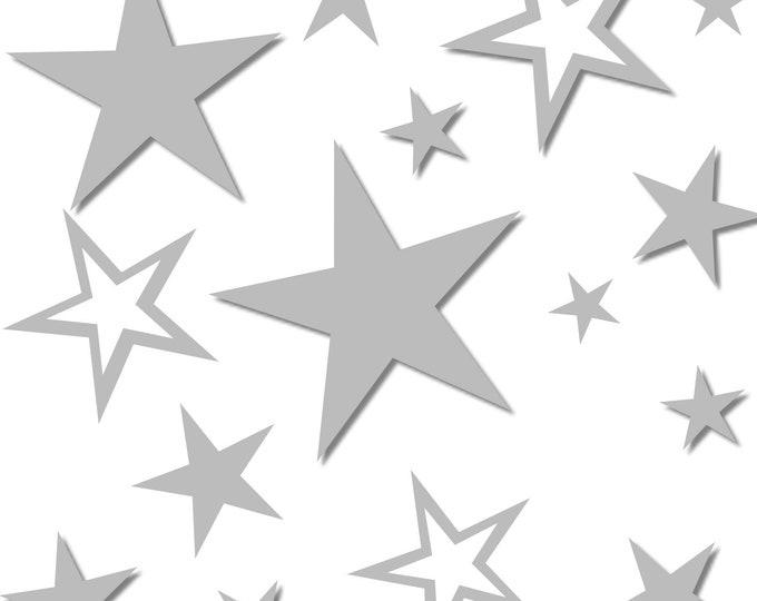 81 stars decal wall tattoo wall decal nursery furniture door girl boys