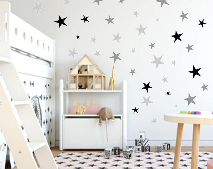 99 star sticker wall tattoo furniture mirror tiles + + Kids room girl boy