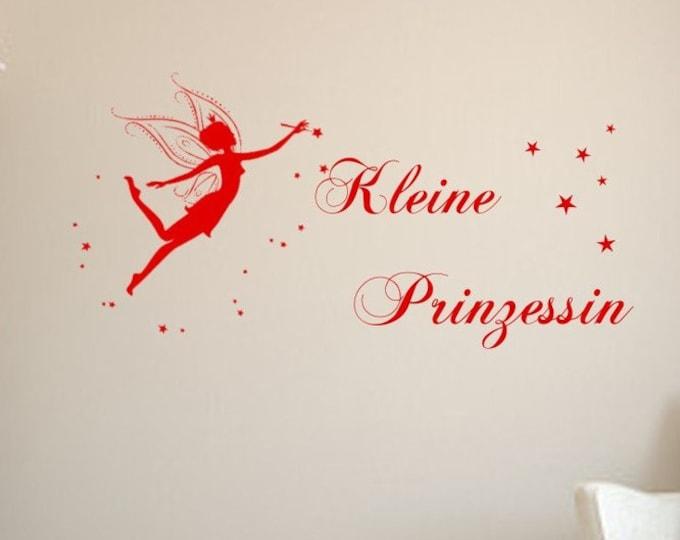 Wall decal wall sticker with magic fairy, elf with magic wand nursery girl