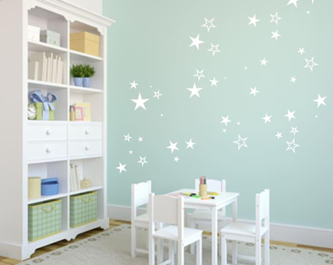 83 star sticker wall tattoo furniture mirror tiles + + Nursery Wall Stickers, Star Wall Stickers, Star Wall Decals, Star Decals, Star Stickers