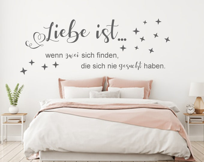 Wall Tattoo ++ Love is... if there are two who have never searched.++Wall sticker AA800 bedroom saying