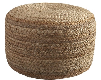 Hand Braided Jute Ottoman/Pouf Cover