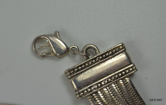 Vintage Napier Unsigned Silver Tone Multi Strand … - image 5