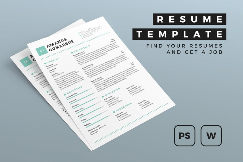 Psd Resume Template.Resume Template Ms Word Psd Cv Template Simple Professional Resume