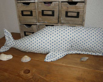 Whale dot fabric from Tilda-inspired home decor, child's room