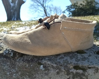 Scout Moccasin | Men's | Plains Indian Moccasin | Genuine Suede Low-Cut Moccasin | Native American Footwear | Handmade Minimalist Shoes