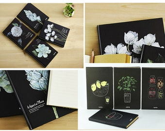Hardcover Notebooks Flowers and Fruits