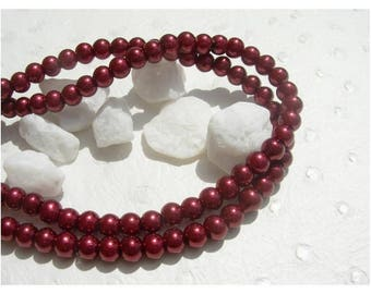 set of 30 pearls Red