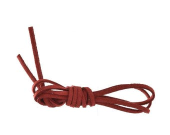 Red and Burgundy suede cord 1 M