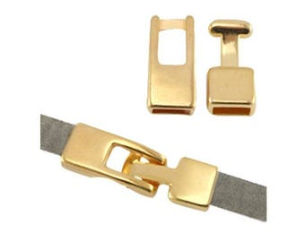 Clasp for leather cord (int 1 cm X 0.5 cm)