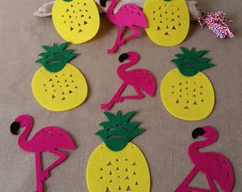 Pineapple and Flamingo party pary or decoration Garland