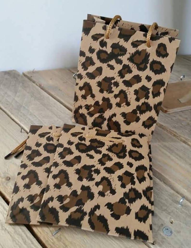 Sac Cadeau Kraft Fantasie Leopard 145x115x6cm Etsy