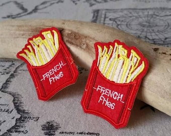 1 x patch badge French fries, fusible