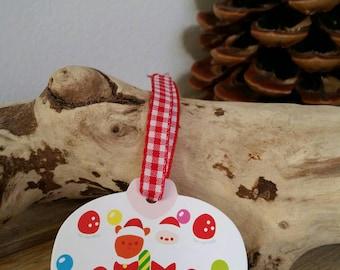 Set of 5 gift tags (5.5 x 5cm) Christmas cake