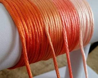 """1m de cordon """"queue de orange 3 mm"""