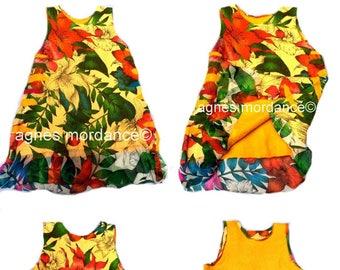 "BALANCES reversible silk, silk, felted, silk tunic dress, unique creation, ""Take me to Havana"""
