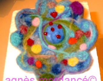 """""""Brooch flower, felted wool, 9cm, the Lily"""""""