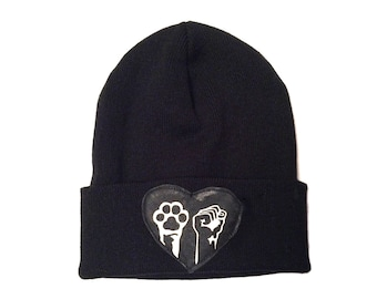 Animal and Human Liberation Winter Hat Vegan Made in Canada