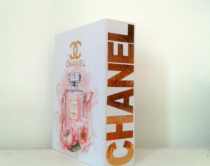 Box book storage, Chanel, decoration, romantic, white spirit, handmade decor gift idea, gift idea, couture style, cc