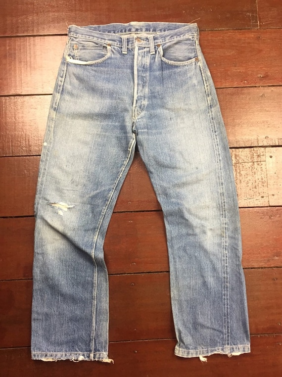 Original Pair 501XX Levi's 40s hidden rivet selved