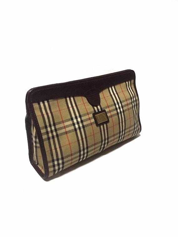 Vintage BURBERRYS Nova Check Pochette Clutch Bag