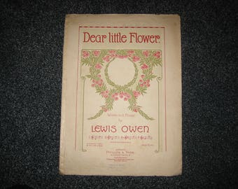 Vintage Sheet Music - Dear Little Flower