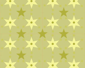 creation of printed fabrics with stars